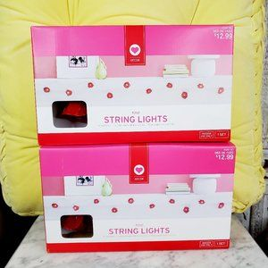 NIB Target rose String Lights Red Roses 2 Boxes